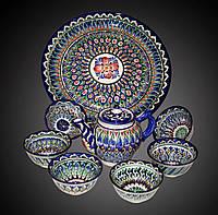 Чайный набор. Узбекская керамика.
