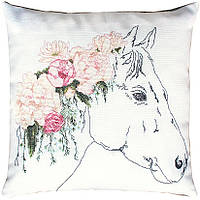 PB109 Лошадь в цветах. Luca-S. Набор для вышивания нитками