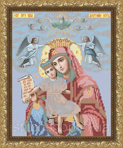 VIA4006  Пресвятая Богородица Достойно есть. ArtSolo. Схема на ткани для вышивания бисером