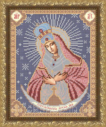 VIA4009  Пресвятая Богородица Остробрамская. ArtSolo. Схема на ткани для вышивания бисером