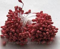 Тычинки для цветов красно-розовые матовые