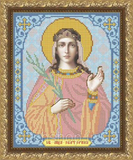 VIA4016 Святая Мученица Екатерина. ArtSolo. Схема на ткани для вышивания бисером