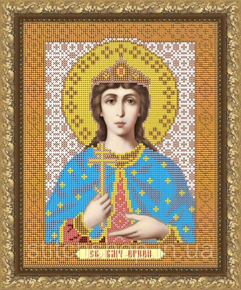 VIA4023 Святая Великомученица Ирина. ArtSolo. Схема на ткани для вышивания бисером