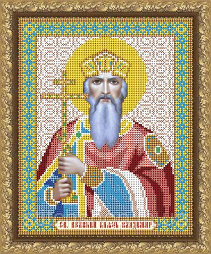 VIA4024 Святой Великий Князь Владимир. ArtSolo. Схема на ткани для вышивания бисером