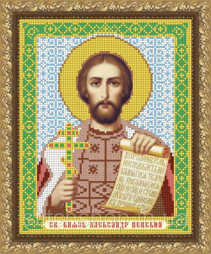 VIA4026 Святой Князь Александр Невский. ArtSolo. Схема на ткани для вышивания бисером