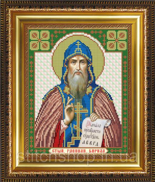 VIA4042 Святой Равноапостольный Кирилл. ArtSolo. Схема на ткани для вышивания бисером