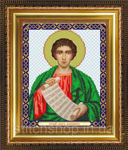 VIA4069 Святой Апостол Филипп. ArtSolo. Схема на ткани для вышивания бисером