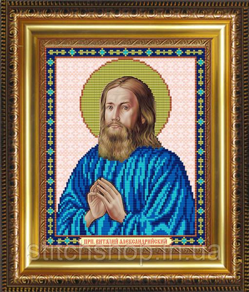 VIA4077 Преподобный Виталий Александрийский. ArtSolo. Схема на ткани для вышивания бисером