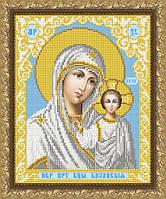 VIA4201 Казанская Божия Матерь в белом одеянии. ArtSolo. Схема на ткани для вышивания бисером