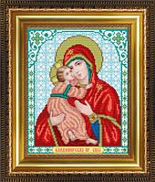 VIA4205 Пресвятая Богородица Владимирская. ArtSolo. Схема на ткани для вышивания бисером