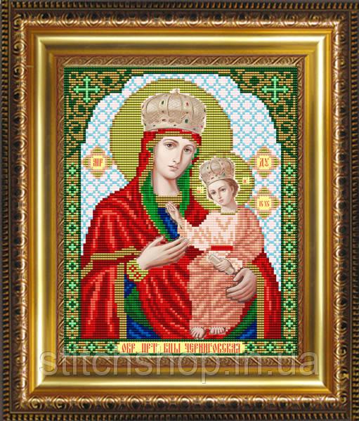 VIA4209 Образ Пресвятой Богородицы Черниговская. ArtSolo. Схема на ткани для вышивания бисером