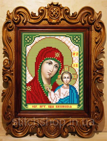 VIA5001 Казанская Божия Матерь. ArtSolo. Схема на ткани для вышивания бисером