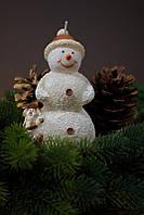Свеча новогодняя снеговик 95х155мм.