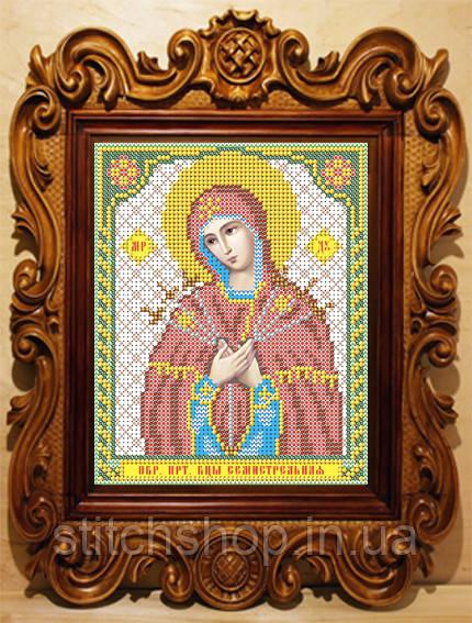 VIA5004 Пресвятая Богородица Семистрельная. ArtSolo. Схема на ткани для вышивания бисером