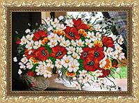 VKA3023 Полевой букет. ArtSolo. Схема на ткани для вышивания бисером