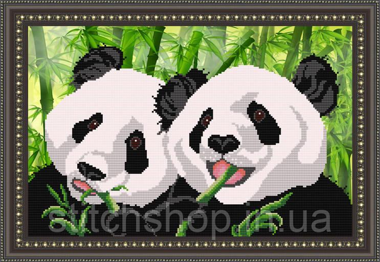 VKA3024 Панды. ArtSolo. Схема на ткани для вышивания бисером