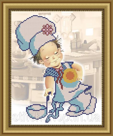 VKA4001 Пять веселых поварят. ArtSolo. Схема на ткани для вышивания бисером