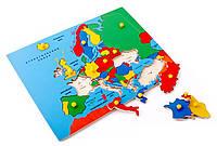 Игрушки для развития  - Рамка и вкладыши - Карта Европы