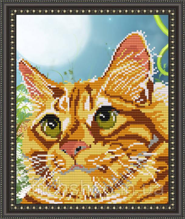 VKA4335 Рыжий кот. ArtSolo. Схема на ткани для вышивания бисером