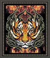 VKA4012 Огненный тигр. ArtSolo. Схема на ткани для вышивания бисером
