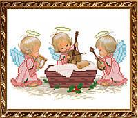 VKA4016В С Рождением девочки. ArtSolo. Схема на ткани для вышивания бисером