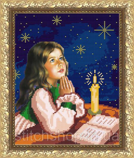 VKA4017 Молитва перед сном. ArtSolo. Схема на ткани для вышивания бисером