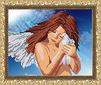 VKA4022 Ангел с голубем. ArtSolo. Схема на ткани для вышивания бисером