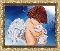 VKA4023 Ангел с кроликом. ArtSolo. Схема на ткани для вышивания бисером