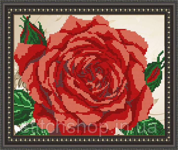 VKA4109 Роза. ArtSolo. Схема на ткани для вышивания бисером