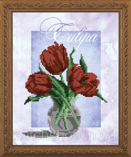 VKA4151 Тюльпан. ArtSolo. Схема на ткани для вышивания бисером