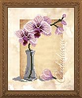 VKA4157 Орхидея. ArtSolo. Схема на ткани для вышивания бисером