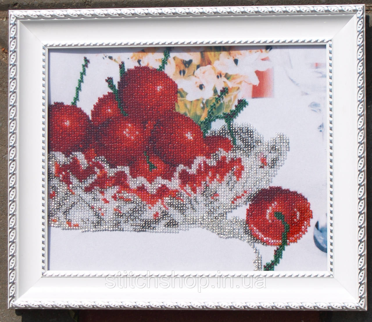 VKA4201 В хрустале. Черешня. ArtSolo. Схема на ткани для вышивания бисером