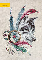B2305 Волк. Luca-S. Набор для вышивания нитками