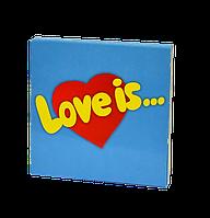 "ШОКОЛАДНЫЙ НАБОР НА 9ПЛИТОЧЕК ""LOVE IS"""
