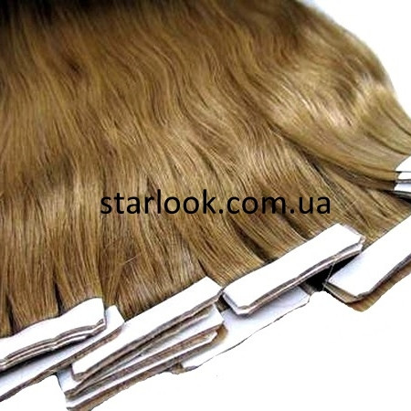 Натуральные волосы для ленточного наращивания 60 см. Оттенок №12.