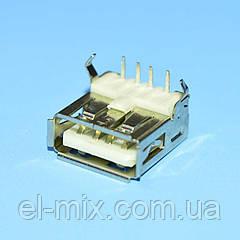 Гніздо USB-А монтажне 90*(кутове) на плату Китай