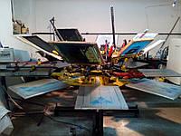 Оборудование для шекографии б/у. Карусельный шелкотрафаретный станок 8х8, сушка, рамы, ракеля