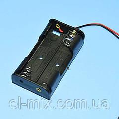 Отсек для батарей  АА на 2шт с проводами  1-0962