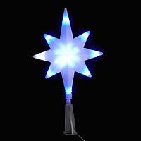 Верхушка звезда 8-ми конечная 12Led, сине-белая