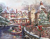 4361 Рождественская бухта. Classic Desing. Набор для вышивания нитками