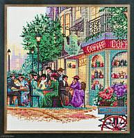 4363 Старое кафе. Classic Desing. Набор для вышивания нитками