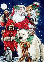 4375 Санта с друзьями. Classic Desing. Набор для вышивания нитками