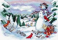 4376 Друзья снеговика. Classic Desing. Набор для вышивания нитками