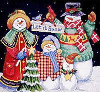 4380 Пусть идет снег. Classic Desing. Набор для вышивания нитками