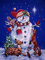 4383 Снеговик. Classic Desing. Набор для вышивания нитками