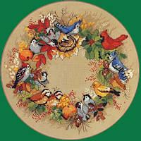 4386 Осенний венок. Classic Desing. Набор для вышивания нитками