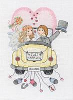 "ACS15  ""Молодожены (Just Married)"" ANCHOR. Набор для вышивания нитками"