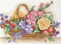 "AK117  ""Цветочная корзина (Floral Basket)"" ANCHOR. Набор для вышивания нитками"