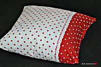 Декоративная наволочка на подушку в горох, фото 1