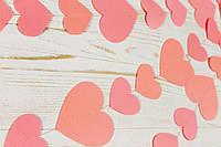 Бумажная гирлянда из сердец, персиковая, фото 1